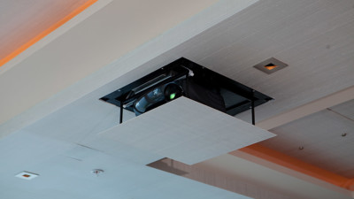 Motorized Projector Lifts make your projector disappear.