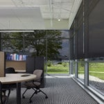 Lutron Solar Shades are available in a wide variety of openness and hues.