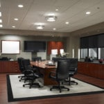 Lutron Blackout Shades contribute to an optimal conference room environment.