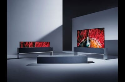 LG R TV at Salone del Mobile