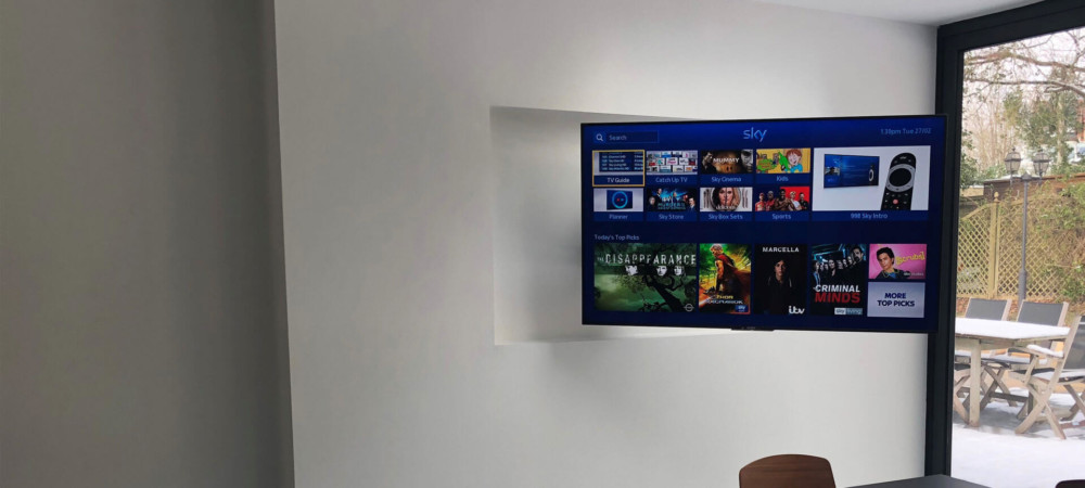 Motorized Articulating in-wall TV Mount