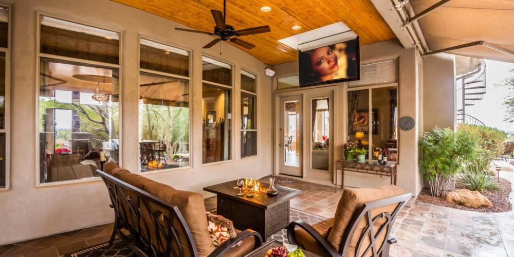 Outdoor Ceiling Flip Down TV Lift