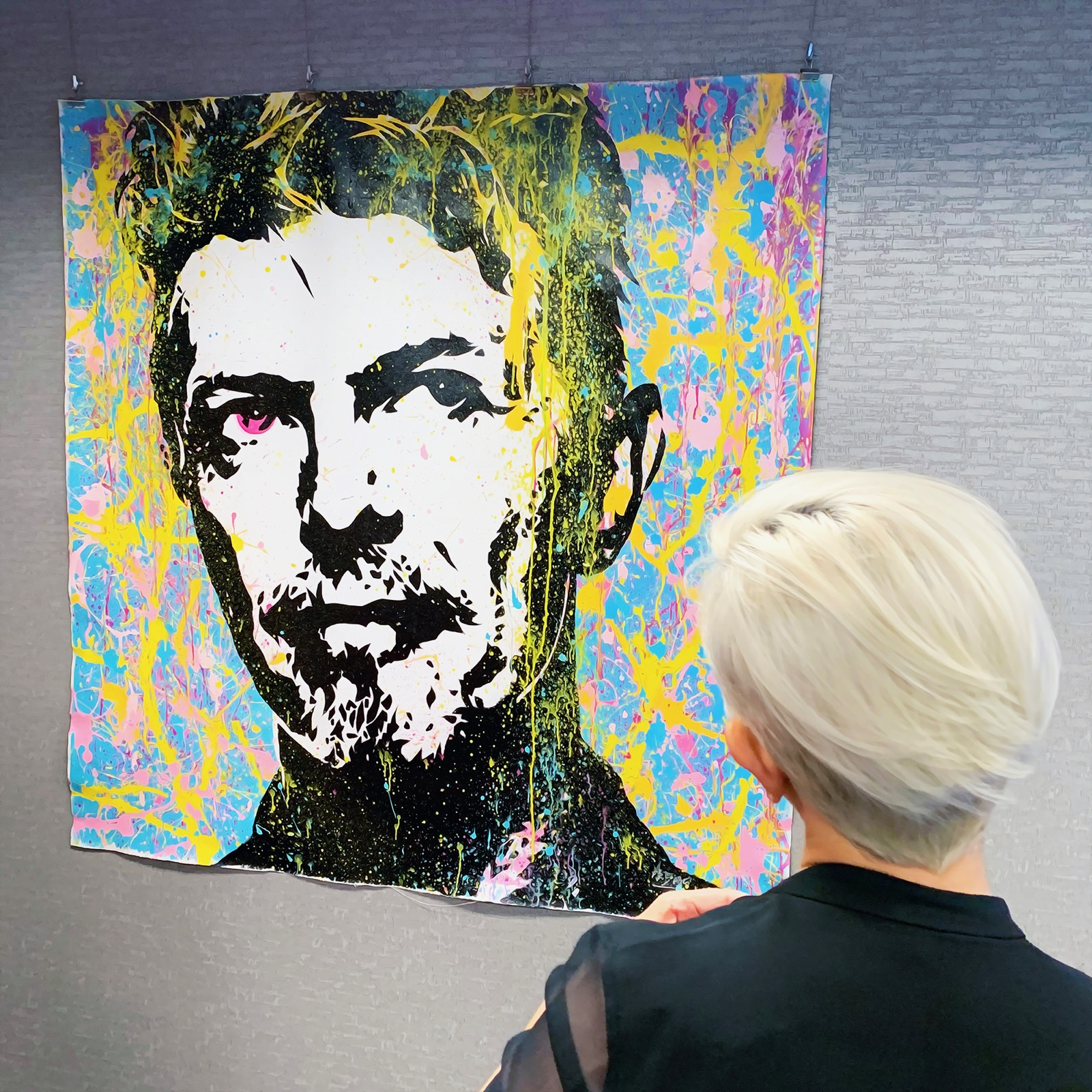 Clients Enjoying Bowie Art