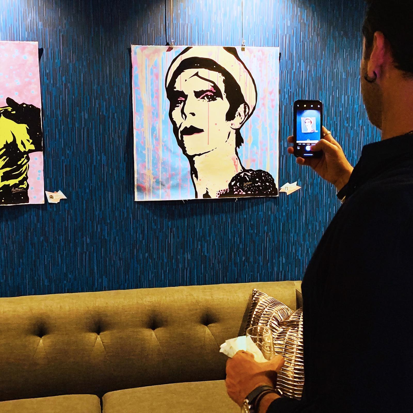 David Bowie Pop Art by Mr. Babes