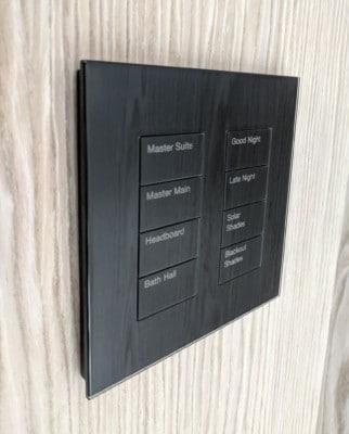 Black Glass Lutron Palladiom Keypad