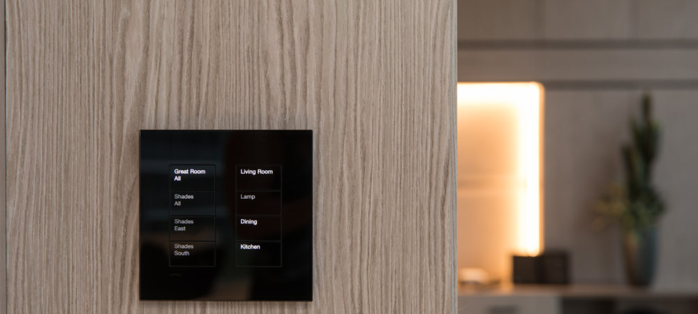 Lutron Palladiom Black Glass Keypad