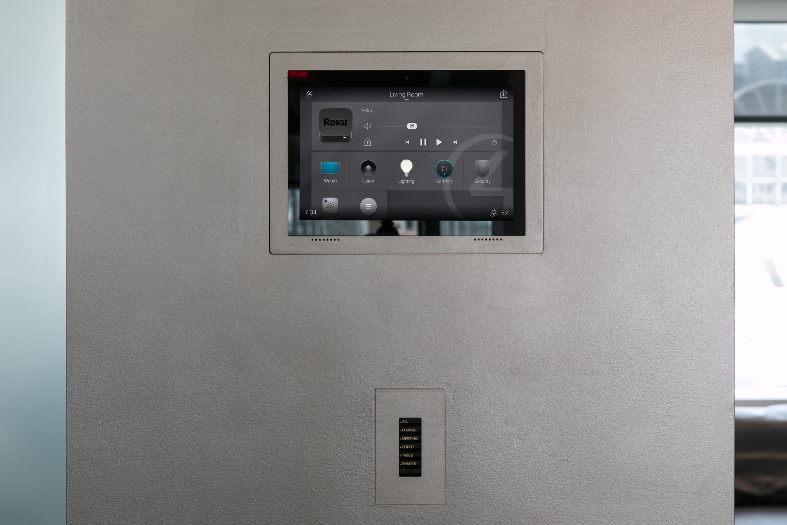 ID Showroom Touch Panel and Keypad