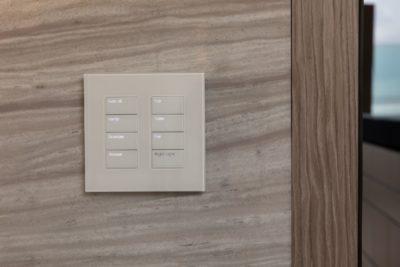 Lutron Palladiom White Glass Keypad