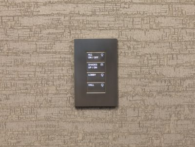 Lutron Palladiom Keypad in Brushed Stainless Finish