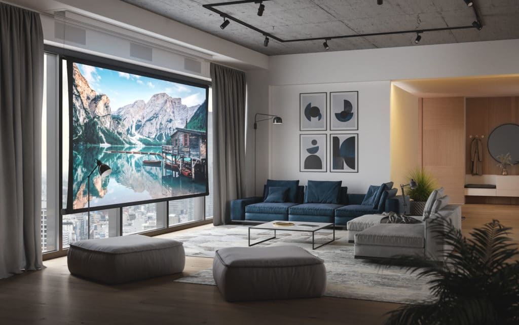 Screen Innovations Zero-G Projection Screen 2