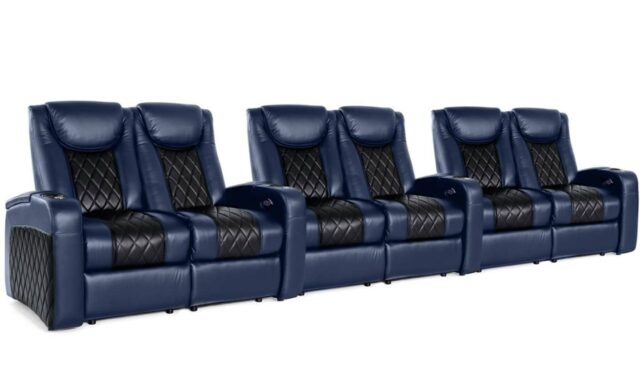 Coming soon to a theater near you! Custom theater seating featured at Intelligent Design. #hometheater